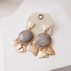 Anthropologie Stone Fringle Earrings